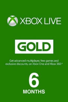 Xbox Live GOLD Subscription Card 6 Months Xbox Live GLOBAL